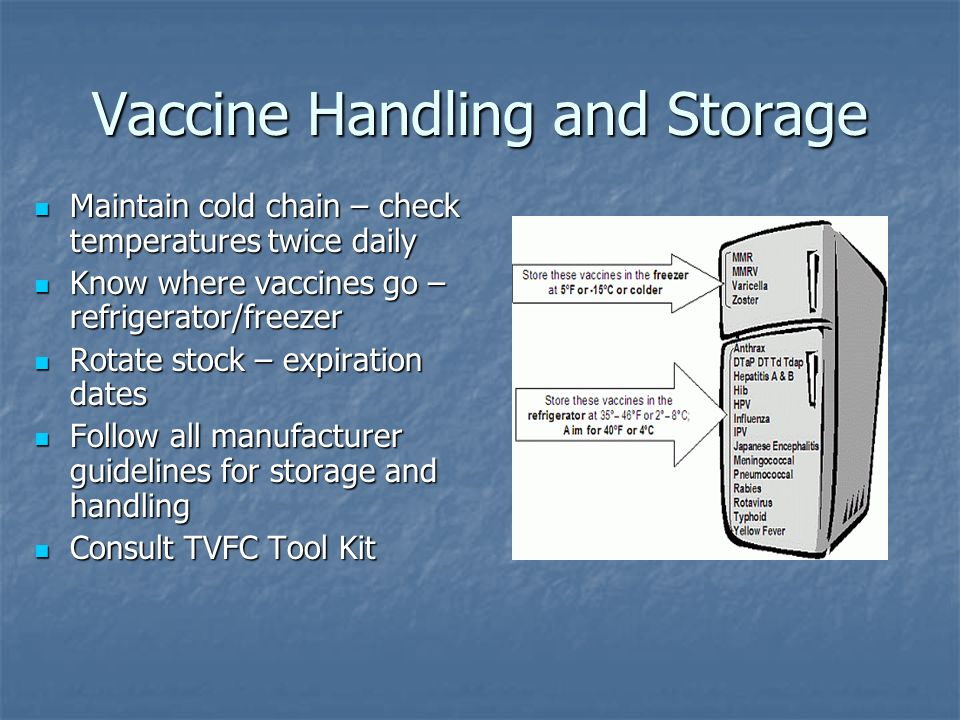 Vaccine Handling and Storage