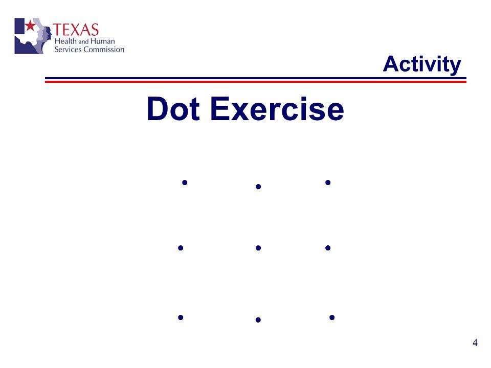 Activity Dot Exercise ● ● Mia ● ● ● ● ● ● ●