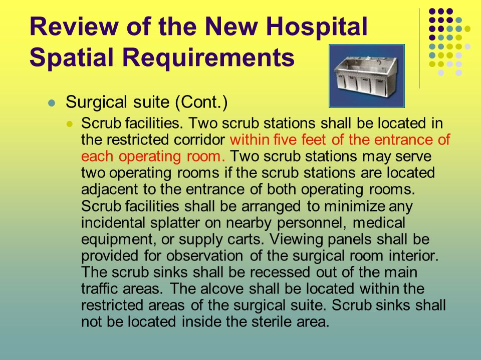 Review of the New Hospital Spatial Requirements