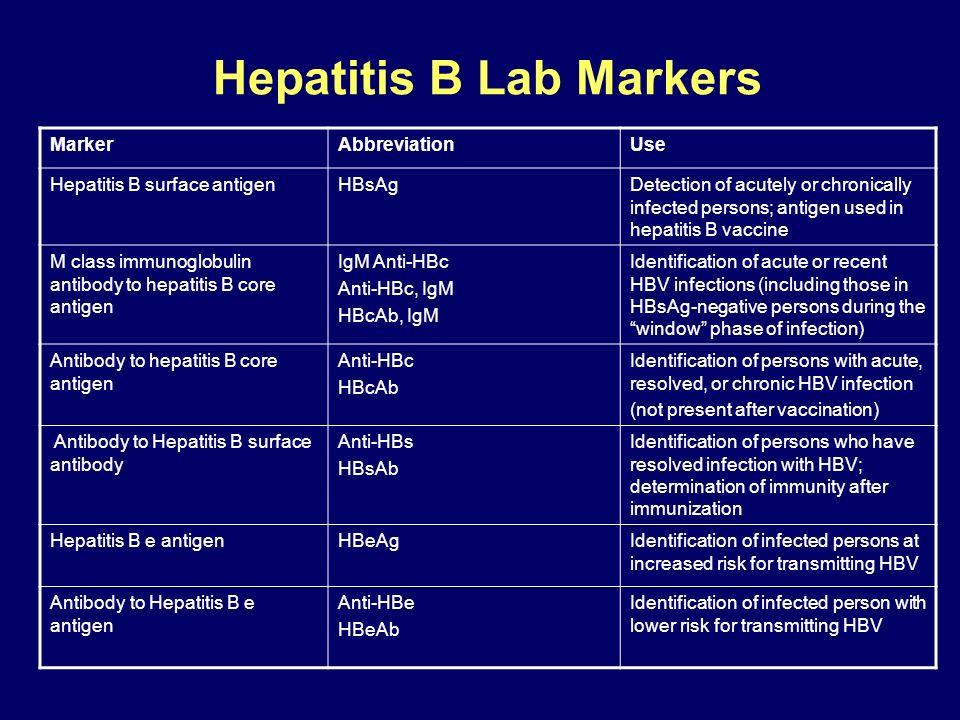 Hepatitis B Lab Markers
