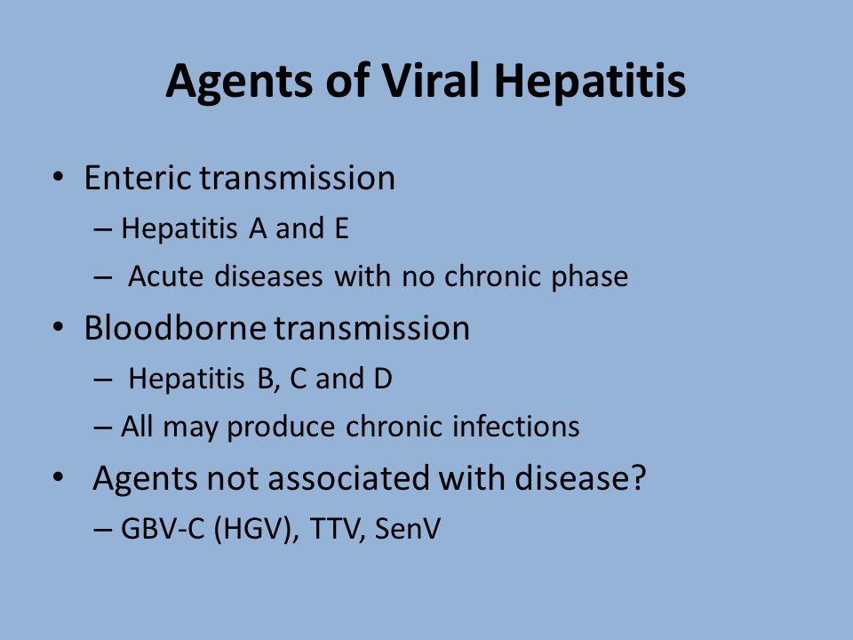 Agents of Viral Hepatitis