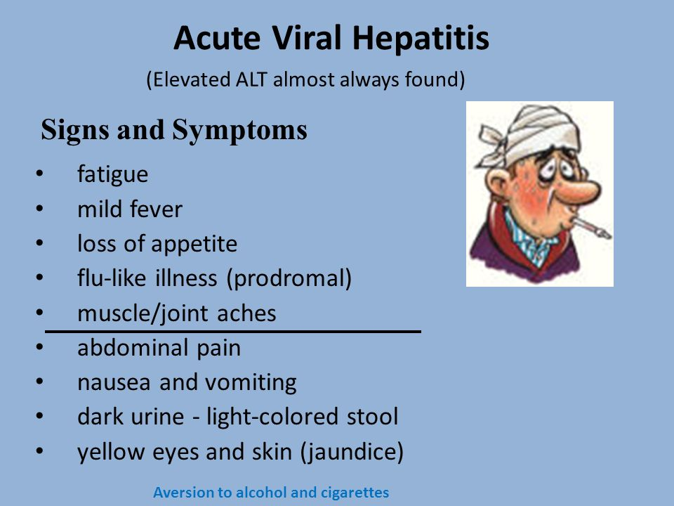 Acute Viral Hepatitis Signs and Symptoms fatigue mild fever