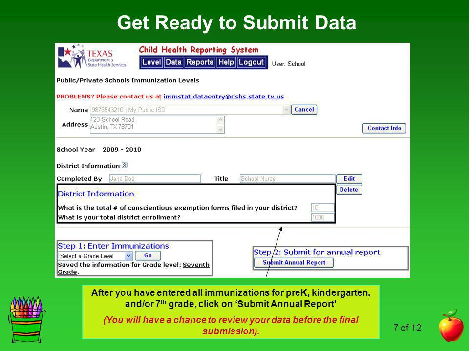 Get Ready to Submit Data