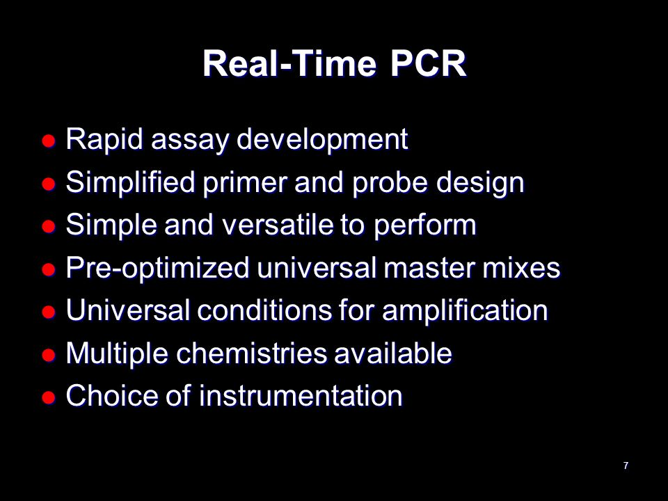 Real-Time PCR Rapid assay development