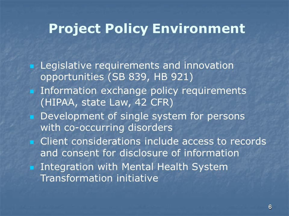 Project Policy Environment