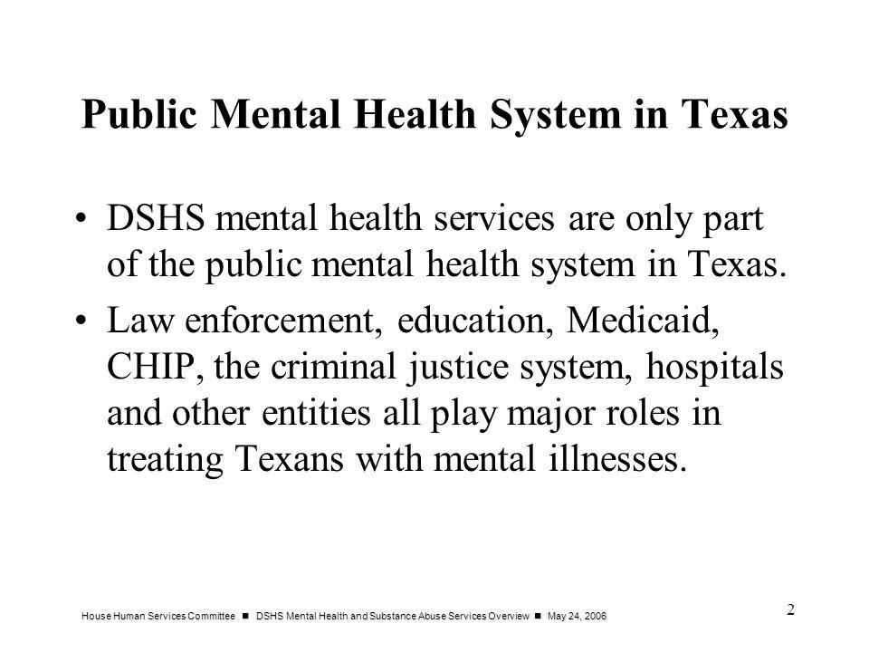 Public Mental Health System in Texas