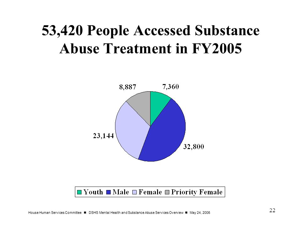 53,420 People Accessed Substance Abuse Treatment in FY2005