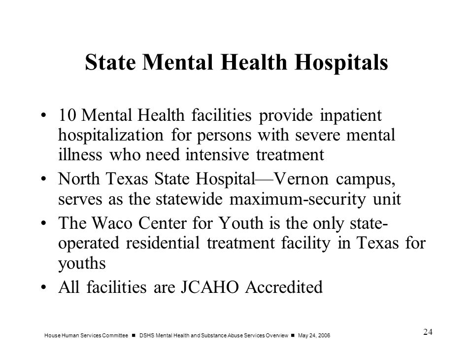 State Mental Health Hospitals