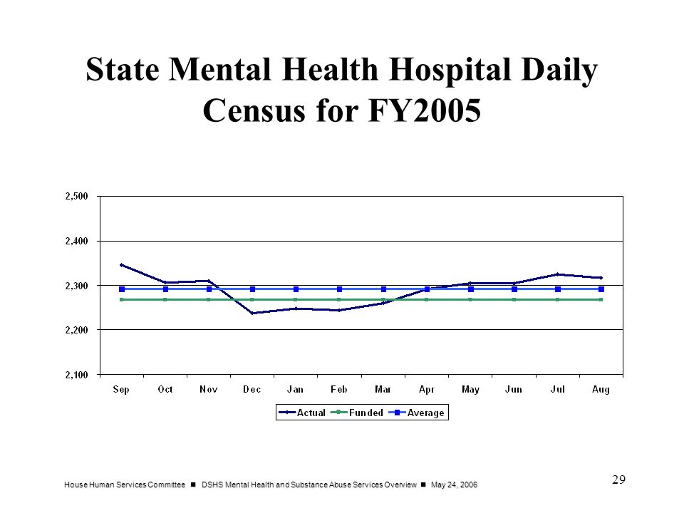 State Mental Health Hospital Daily Census for FY2005