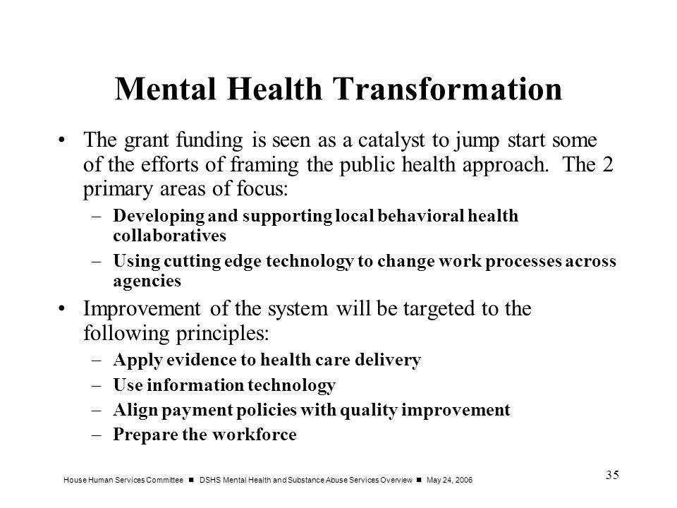 Mental Health Transformation