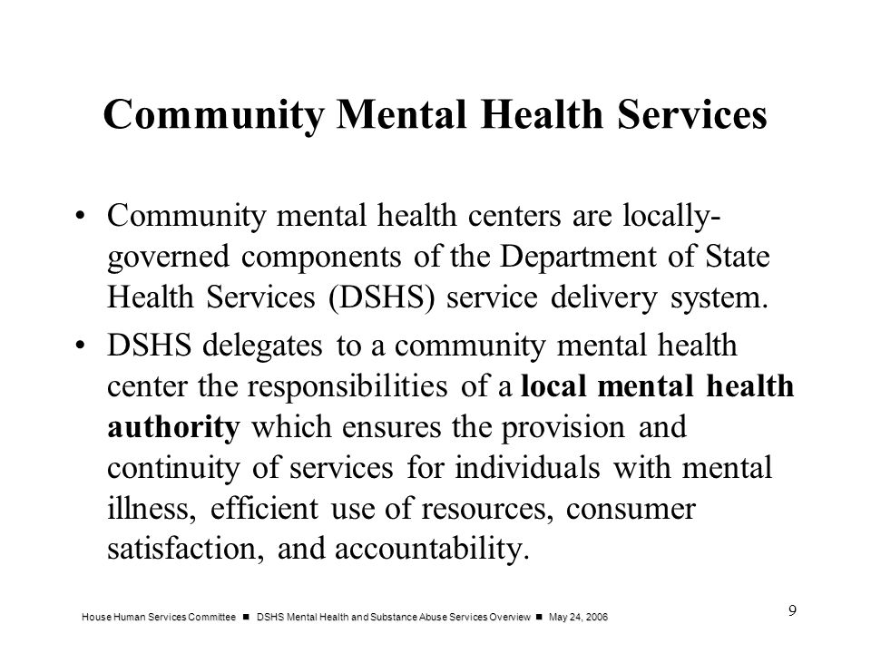 Community Mental Health Services