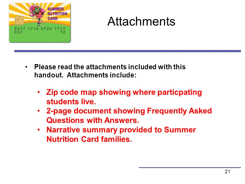 Attachments Zip code map showing where particpating students live.
