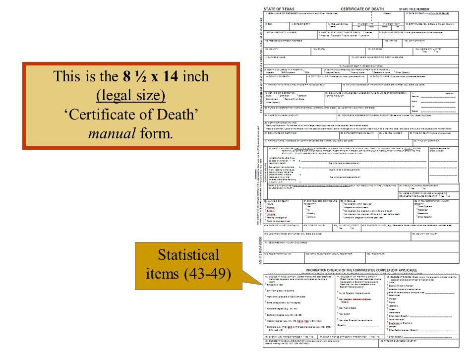 'Certificate of Death'