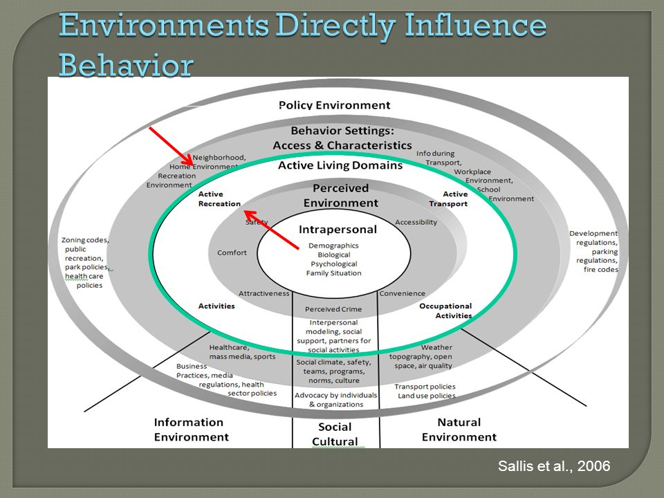 Environments Directly Influence Behavior