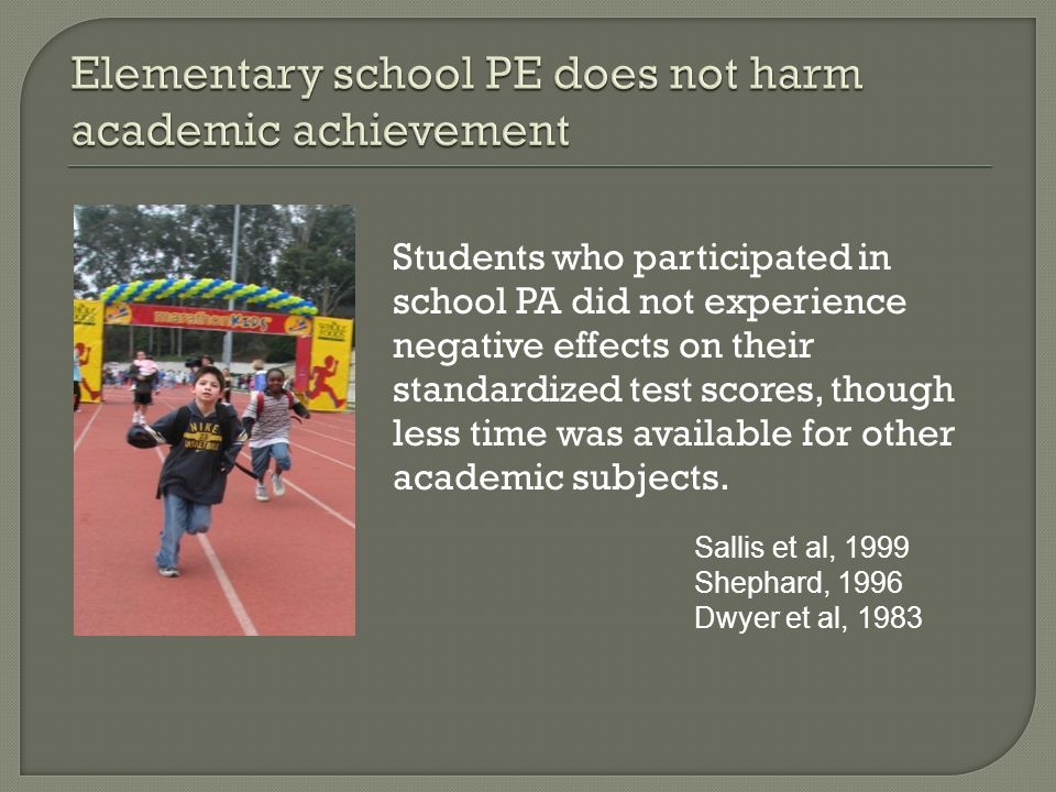 Elementary school PE does not harm academic achievement