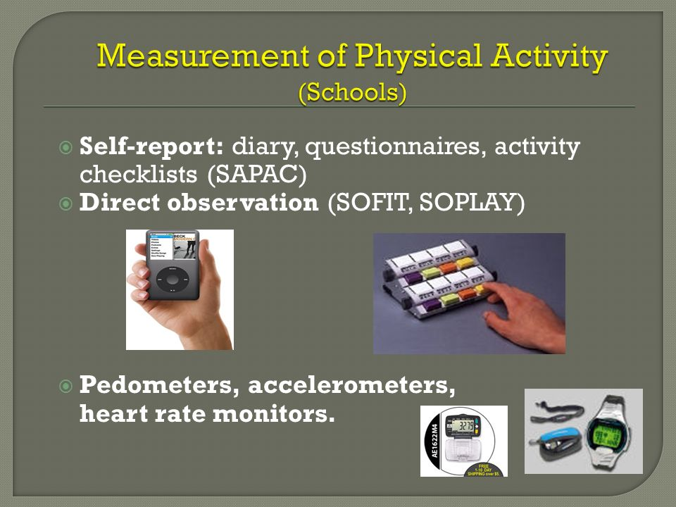 Measurement of Physical Activity (Schools)
