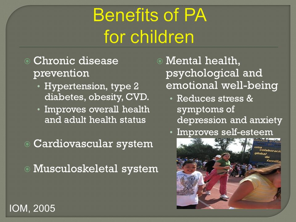 Benefits of PA for children