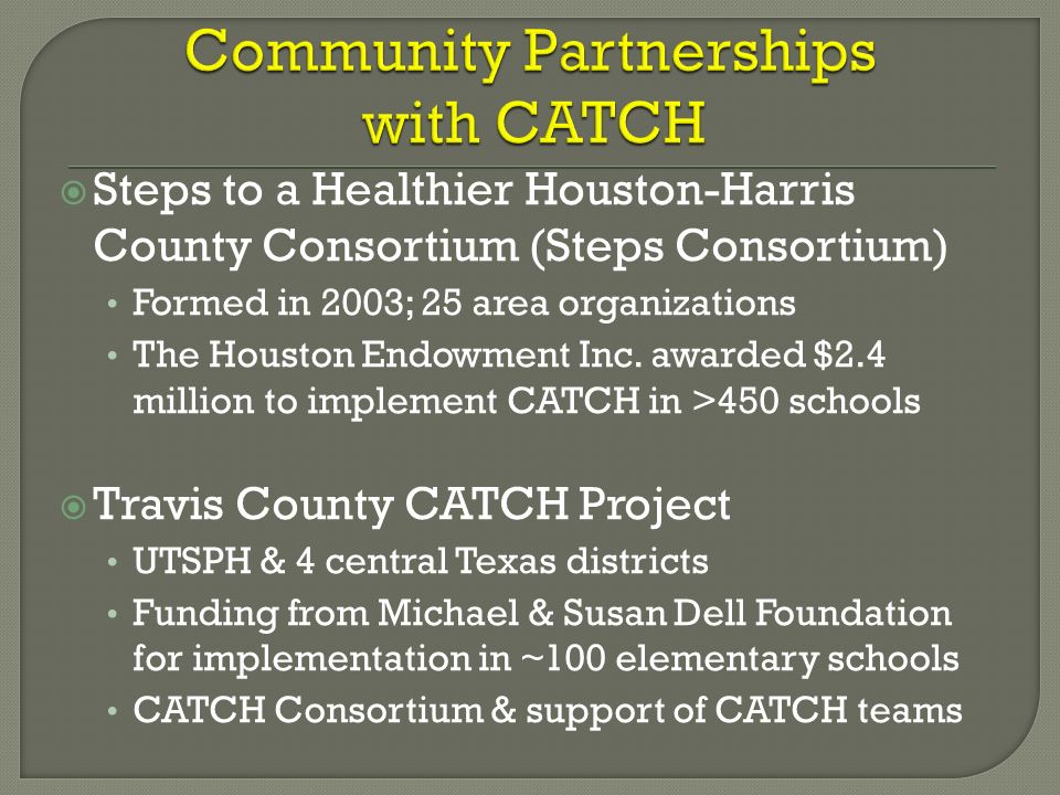 Community Partnerships with CATCH