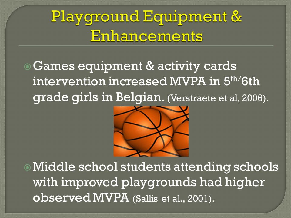 Playground Equipment & Enhancements