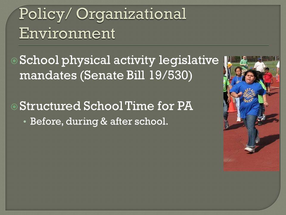Policy/ Organizational Environment