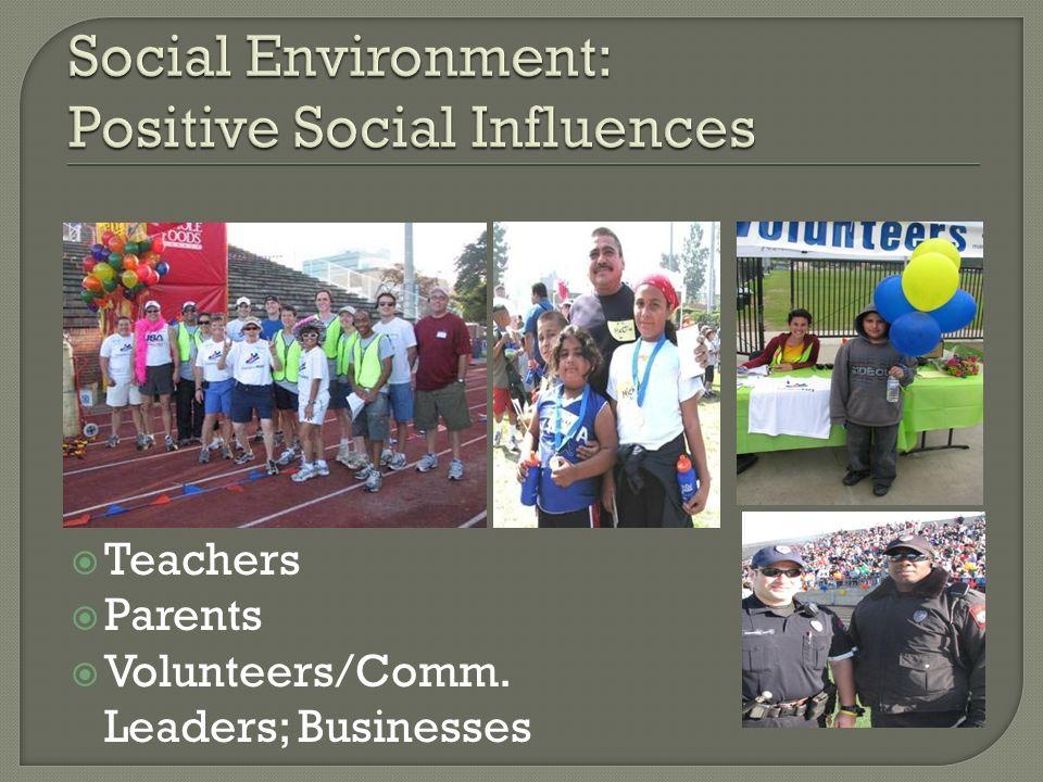 Social Environment: Positive Social Influences