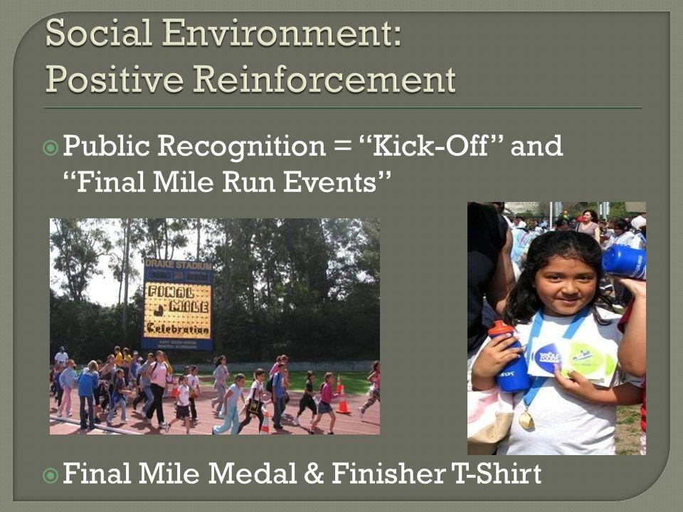 Social Environment: Positive Reinforcement