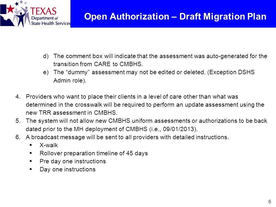 Open Authorization – Draft Migration Plan