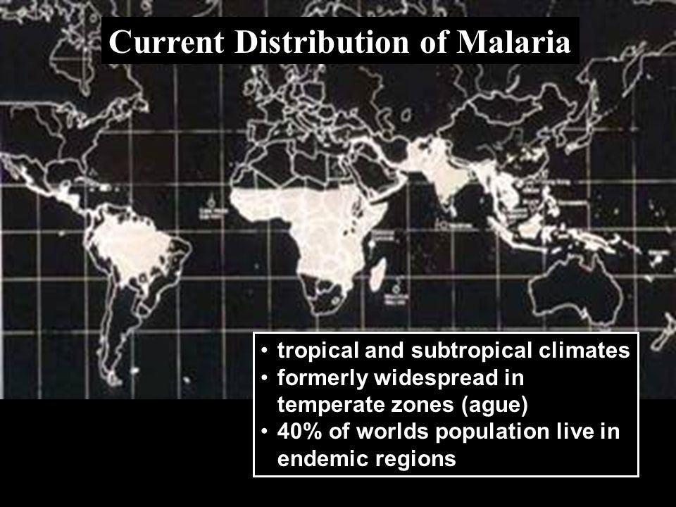 Current Distribution of Malaria