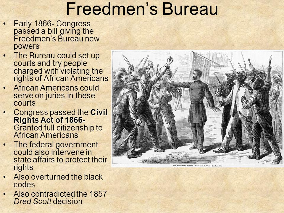 duboiss views on freedmens bureau and the reconstruction Education for all: the freedmen's bureau schools in richmond and petersburg reconstruction and the freedmen's bureau2 william dunning and his many followers.