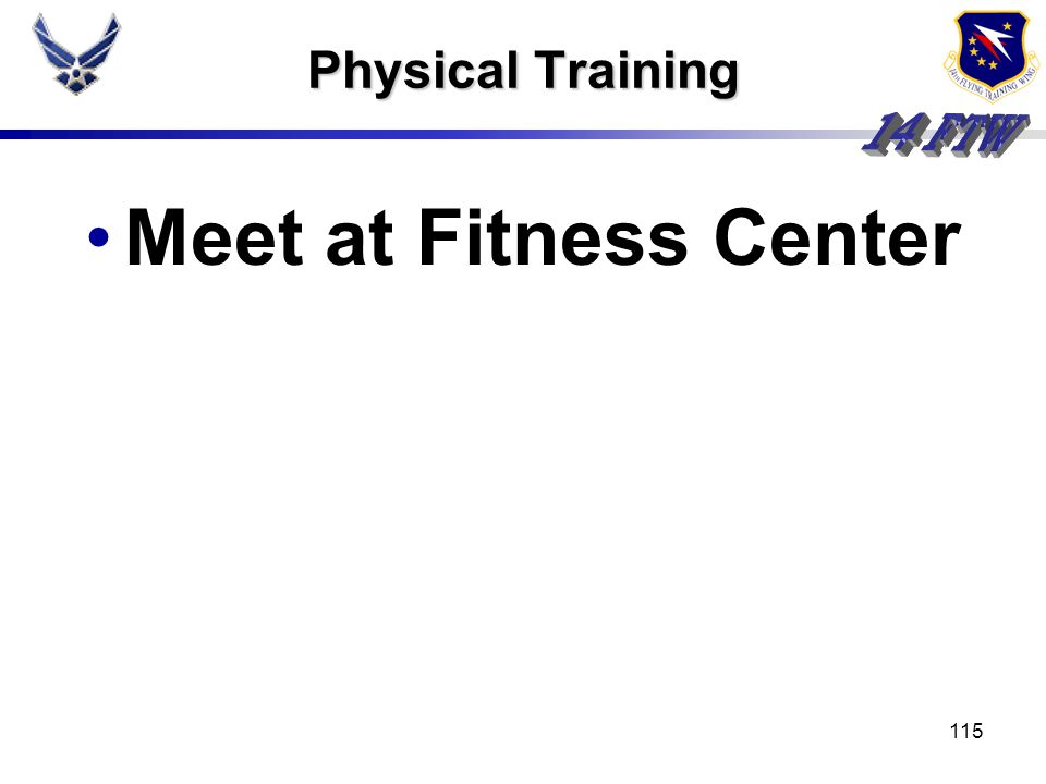 Physical Training Meet at Fitness Center