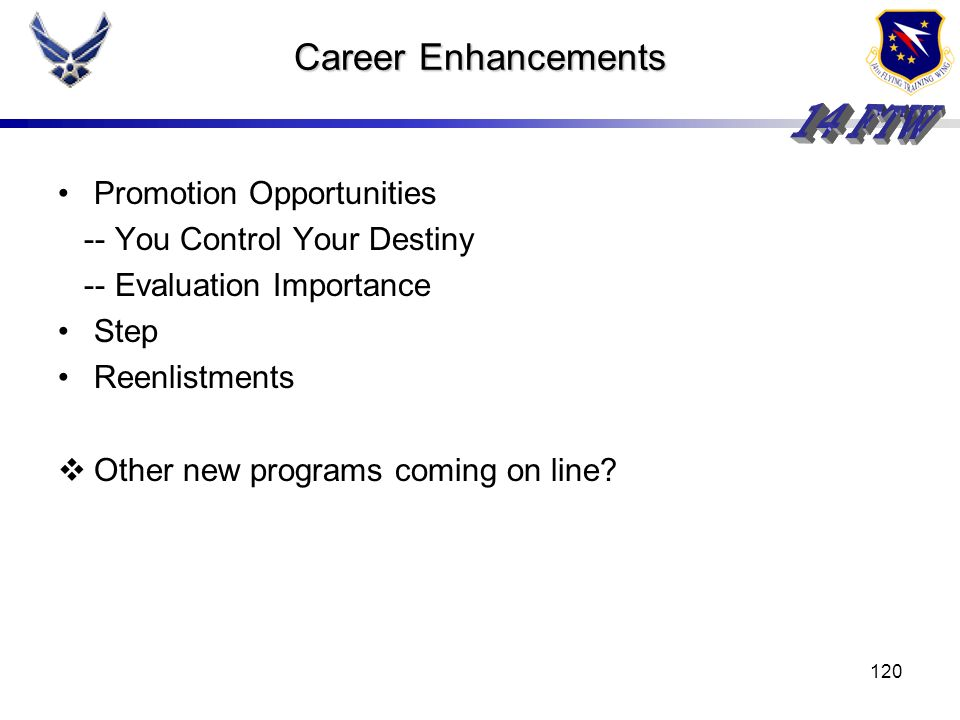 Career Enhancements Promotion Opportunities