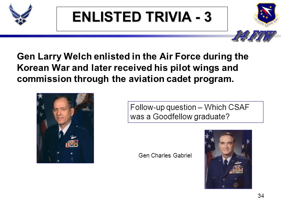 ENLISTED TRIVIA - 3