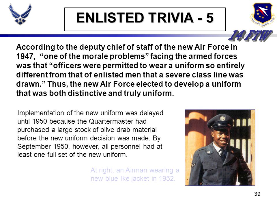 ENLISTED TRIVIA - 5