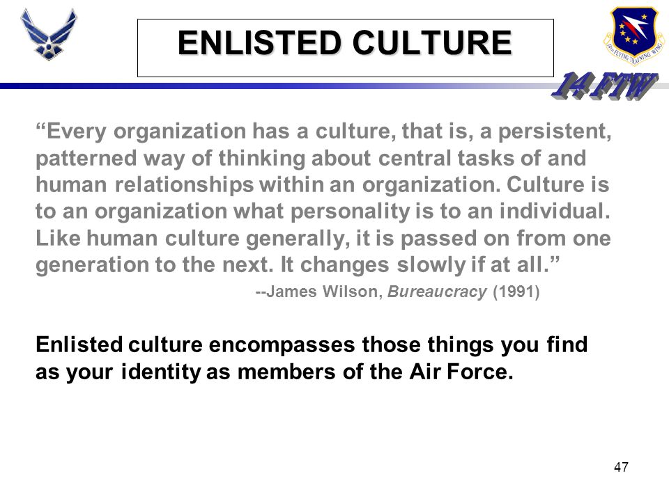 ENLISTED CULTURE