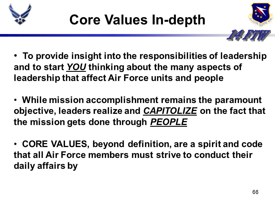 Core Values In-depth