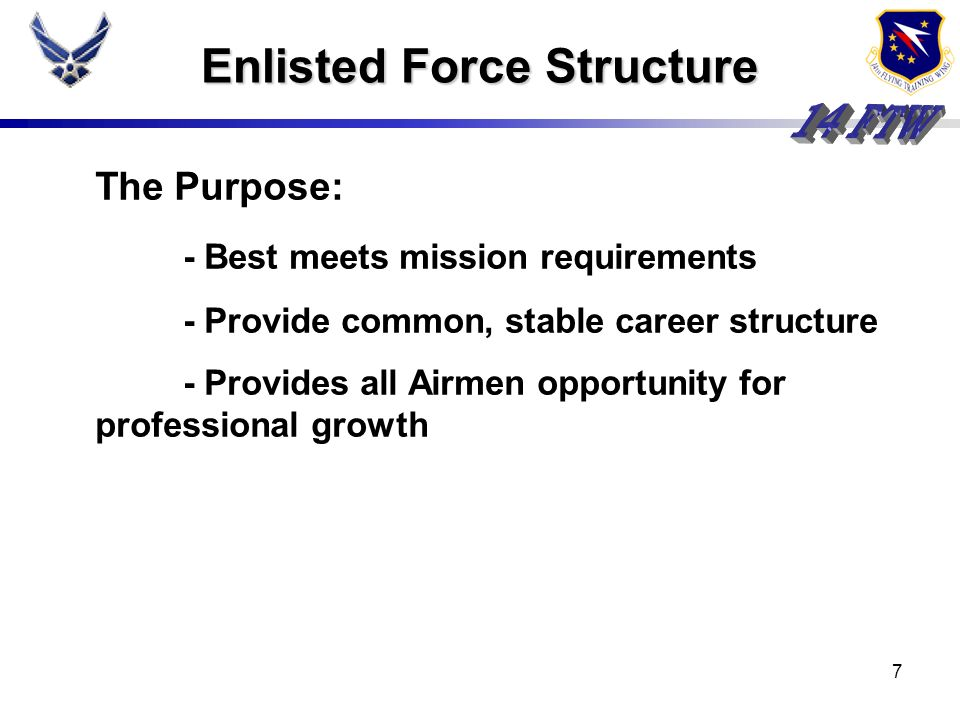 Enlisted Force Structure