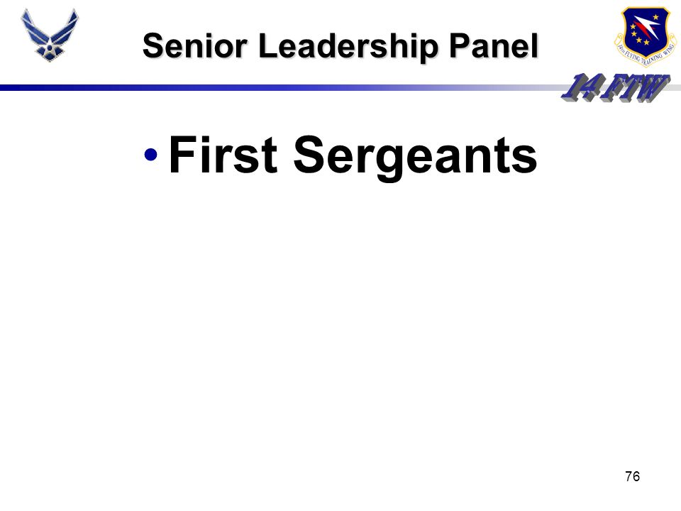 Senior Leadership Panel
