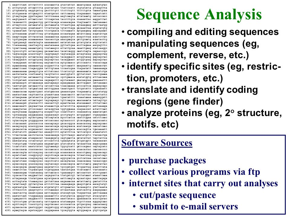Sequence Analysis compiling and editing sequences