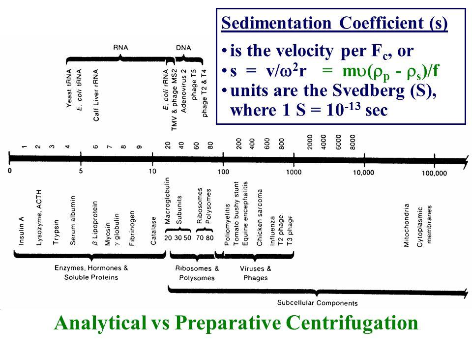 Analytical vs Preparative Centrifugation