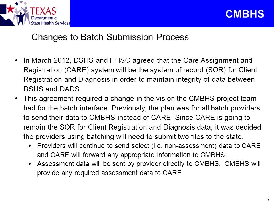 CMBHS Changes to Batch Submission Process