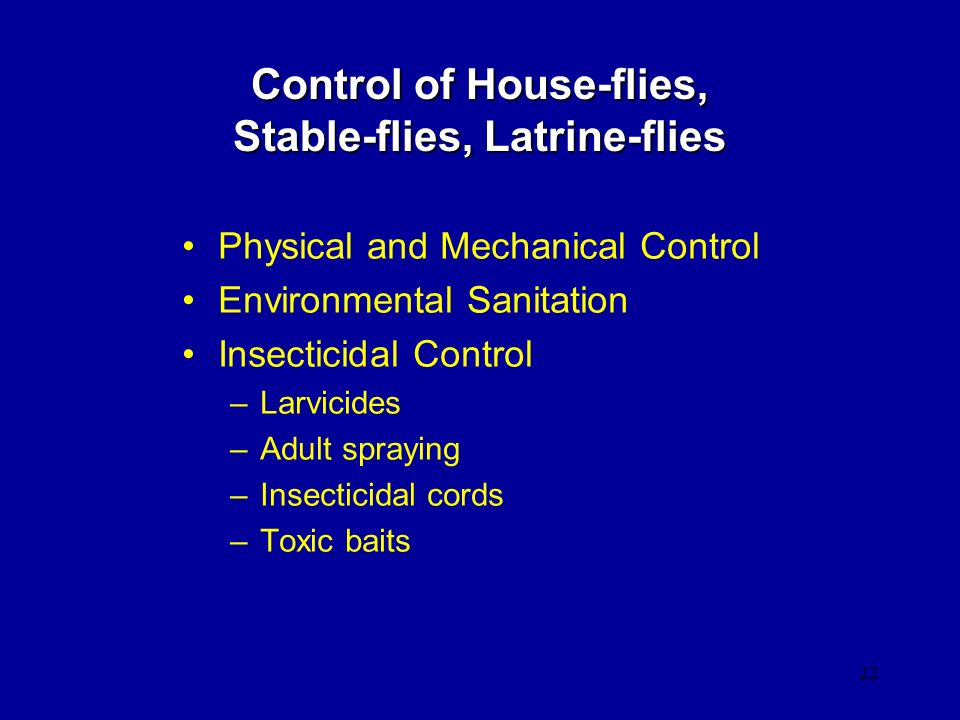 Control of House-flies, Stable-flies, Latrine-flies