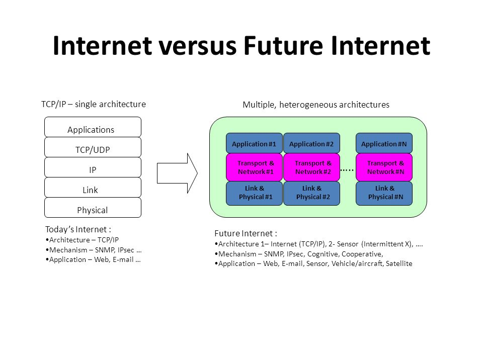 Internet versus Future Internet