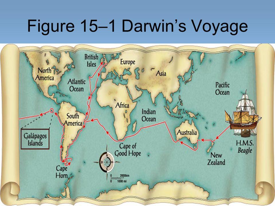 Figure 15–1 Darwin's Voyage