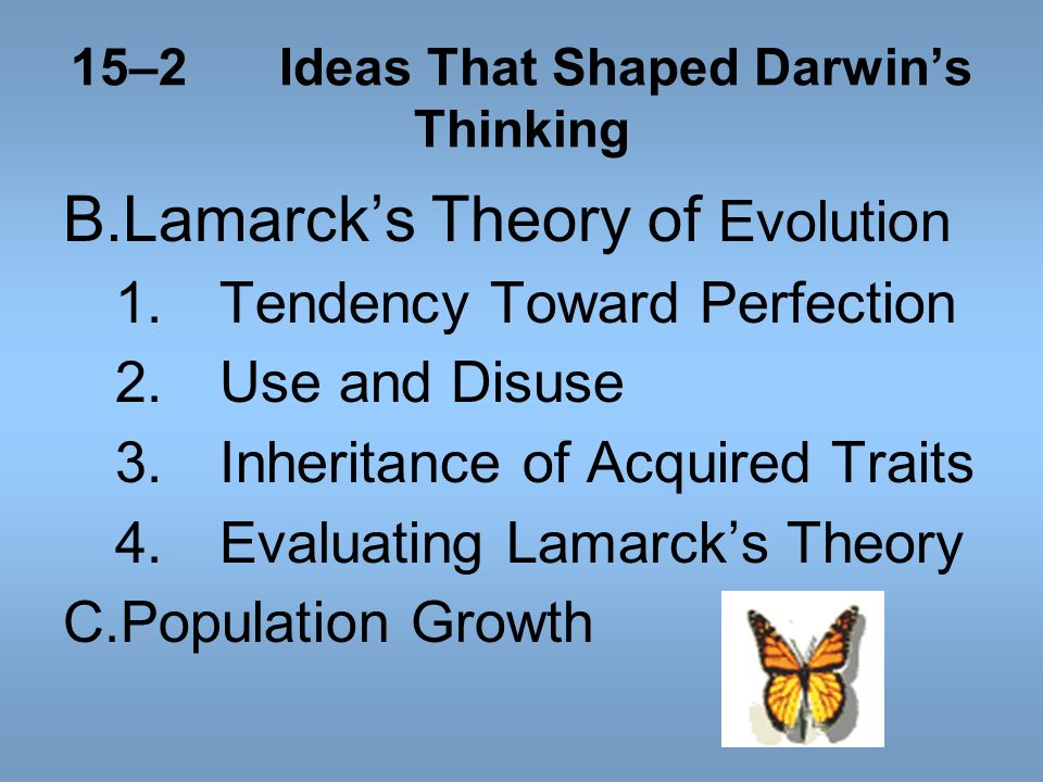 15–2 Ideas That Shaped Darwin's Thinking