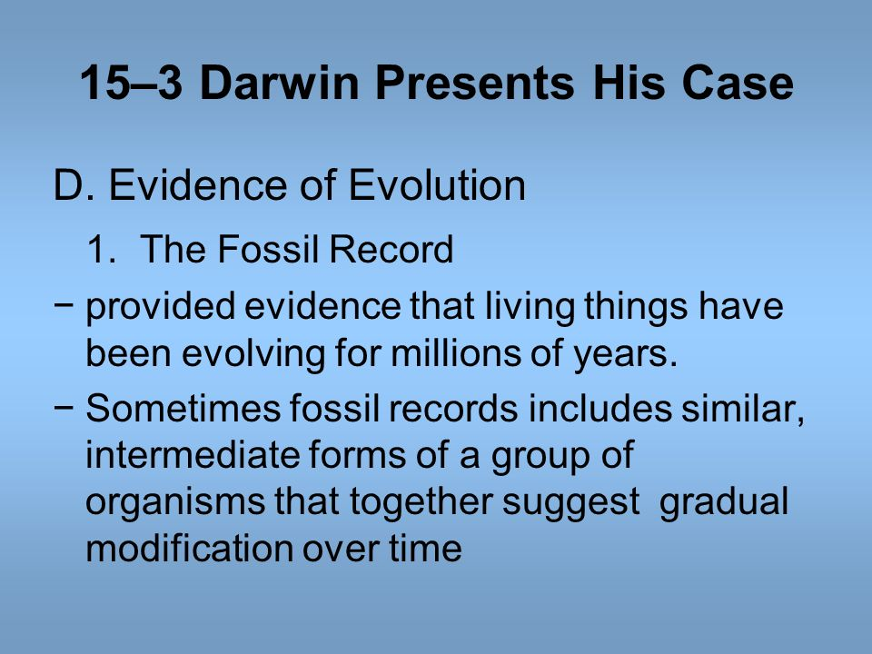 15–3 Darwin Presents His Case