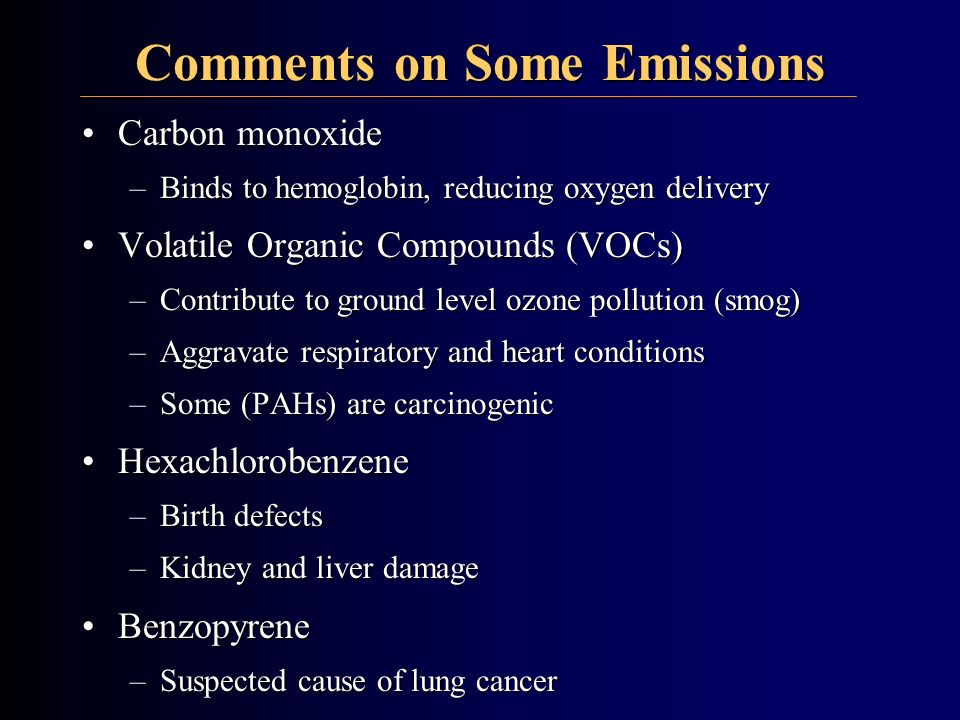 Comments on Some Emissions