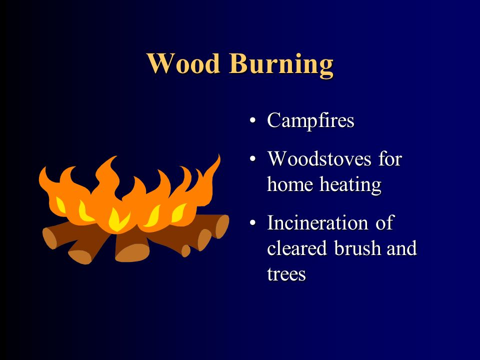 Wood Burning Campfires Woodstoves for home heating