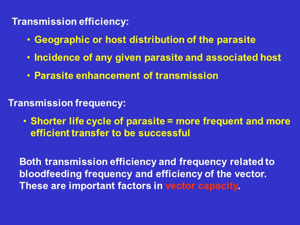 Transmission efficiency:
