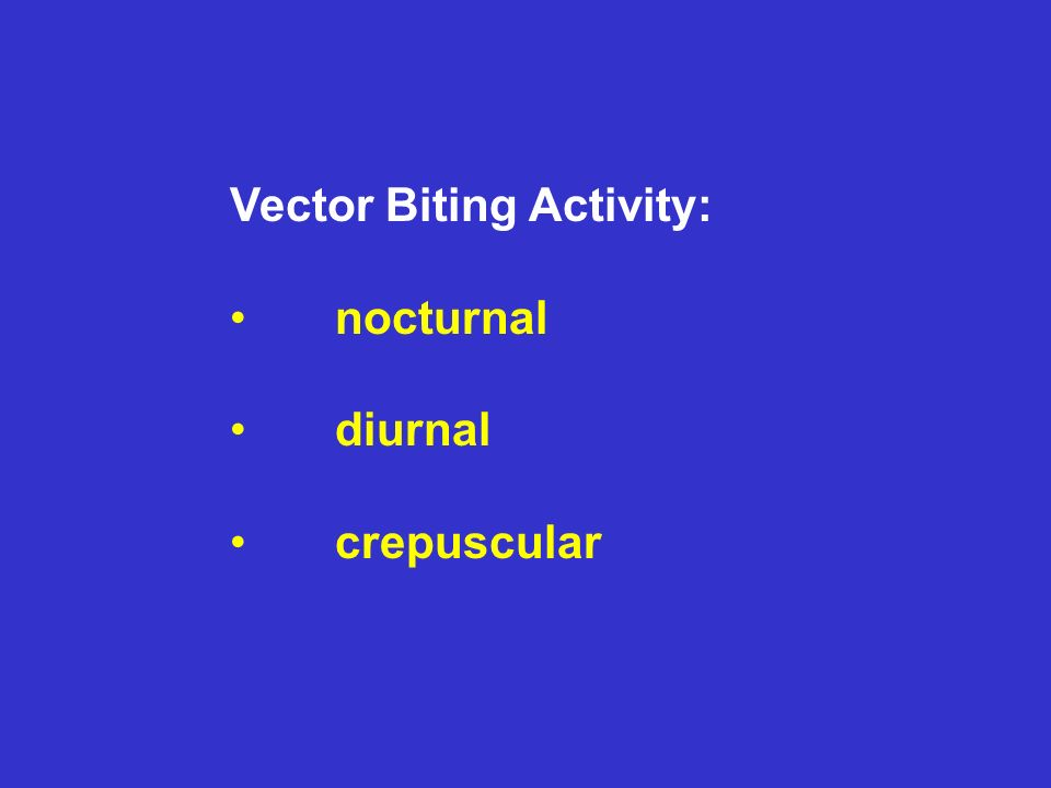 Vector Biting Activity: