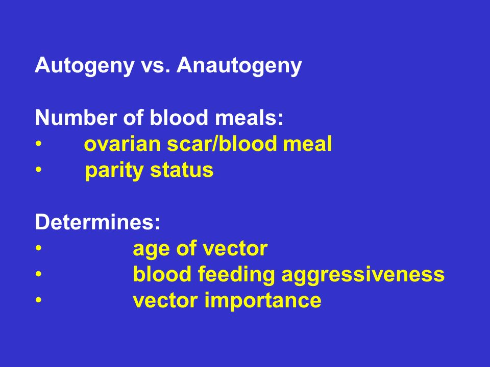 Autogeny vs. Anautogeny